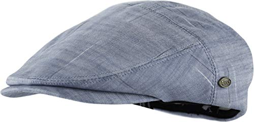Cotton Newsboy - Men's Thick Cotton Summer Newsboy Cap SnapBrim Ivy Driving Stylish Hat (Gray Heather-4020, S/M)