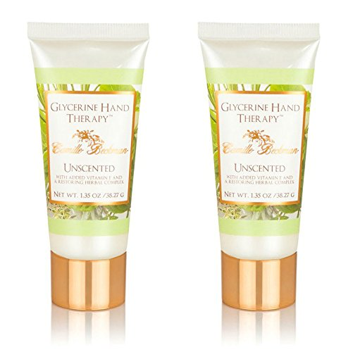 Camille Beckman Glycerine Hand Therapy Cream, Vitamin E Unscented, 1.35 Ounce (2 Pack)