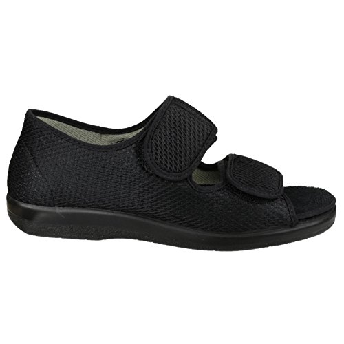 Slipper Royal nero Shoes tessuto Gbs Velcro chiusura Pantofole Med Unisex xHqWWOwS