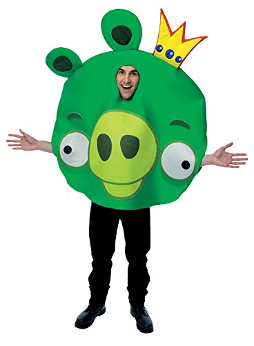 UHC Men's Games Classic Angry Birds King Pig Funny Theme Adult Halloween Costume, OS (Halloween Games Adults)