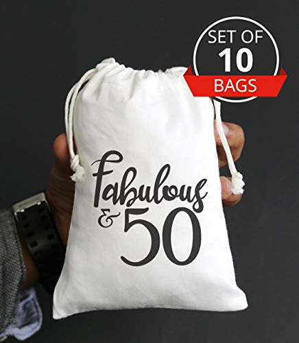 Fabulous Fifty 50th Birthday Party Ideas Favor Bags 50th Birthday Goody Bag 50th -