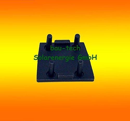 1 Paar Endkappen f/ür Montageschienen 40x40 Solar von bau-tech Solarenergie
