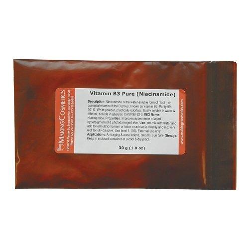 Vitamin B3 Powder (Niacinamide Usp) - 1.0oz / 30g
