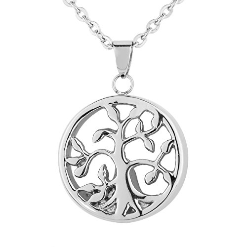 Life Charm Necklace - VALYRIA Cremation Jewelry Stainless Steel Filigree