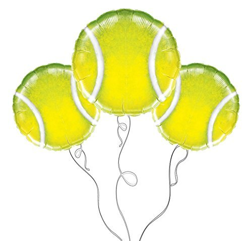 Qualatex Tennis Ball Microfoil Balloons, 18-Inch (3-Units)