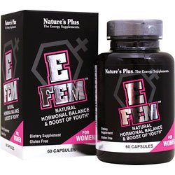 [Nature's Plus - E-Fem, Natural Hormonal Balance & Boost of Youth, 60 Caps] (Fruit Extract 60 Caps)