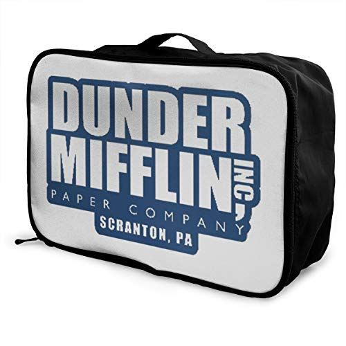 Dunder Mifflin Paper Lnc Lightweight Large Capacity Portable Luggage Bag Fashion Travel Duffel Bag