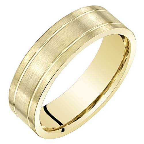 Wedding Ring Band 6mm Classic Brushed Matte Comfort Fit Size 12.5 ()
