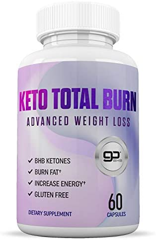 Keto Pills – Advanced Weight Loss – Boosts Energy Metabolism – Burn Fat Fast – Natural Appetite Suppressant – Best Keto Supplement – Keto Total Burn – 60 Capsules