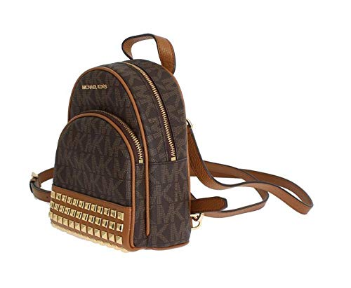 Michael Michael Kors Abbey Extra-Small Signature Studded Backpack Brown Acorn