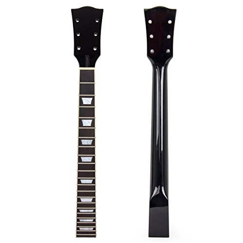 Neck Replacement Guitar - Kmise Electric Guitar Neck for Gibson Les Paul Replacement Mahogany Rosewood 22 Fret Black