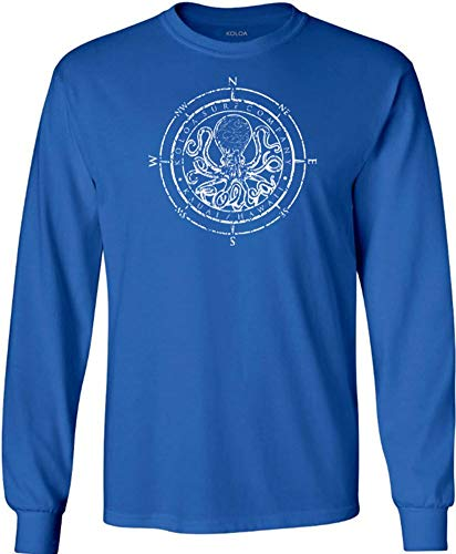 Koloa Octopus Logo Heavy Cotton Long Sleeve T-Shirts in Regular, Big & Tall