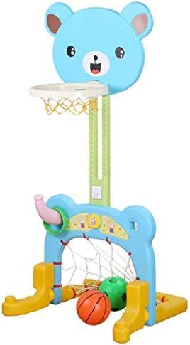 幼稚園は、屋外バスケットボールサッカーゴールのコンビネーション子供のホームアウトドア強化スモール玩具を撮影スタンド持ち上げることができます
