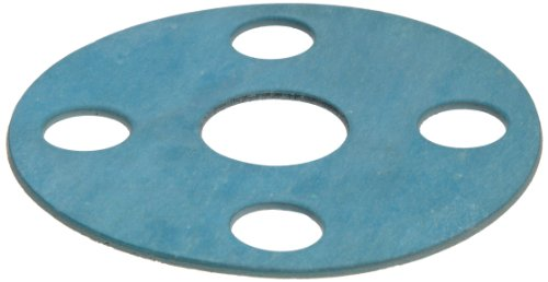 Aramid/Buna-N Flange Gasket, Full Face, Blue, Fits Class 150 Flange, 1/16