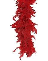 RED FEATHER BOA 165CM (accesorio de disfraz)