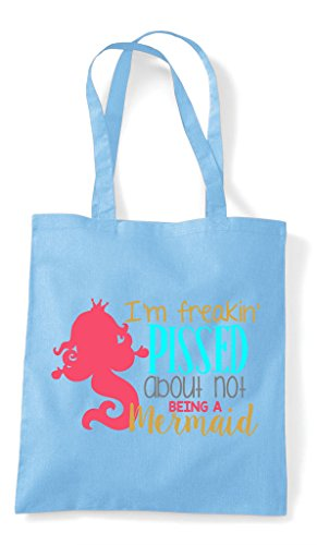 About Mermaid Not Sky Bag Blue A Shopper Pissed Tote Being dT1Cq1xw