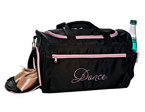 - Horizon Dance 6626 Emmie Embroidered Dance Gear Duffel Bag - Pink