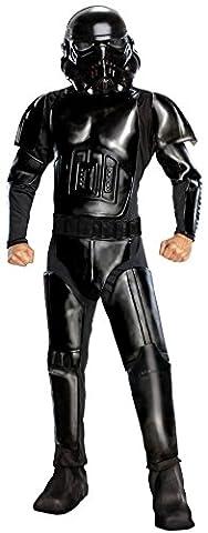 Star Wars Adult Deluxe Shadow Trooper Costume, Black, Standard (Storm Shadow Kostüm)