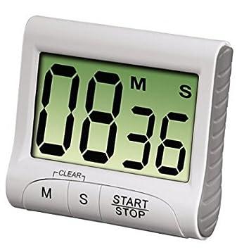 Compra nikgic electrónica de cocina digital temporizador Gran pantalla LCD, alarma alarma cronómetro reloj soporte magnético para cocinar, hornear, ...