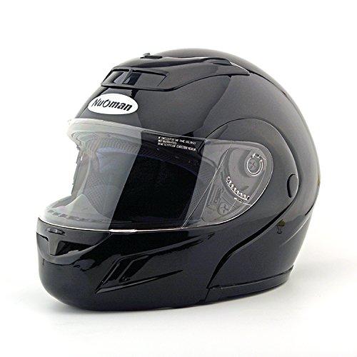 Modular Full Face Motorcycle Helmet Street Bike Racing Motorbike Helmet with Flip Up Clear Visor Shield, DOT Certified (Avg Motorcycle Gloves)