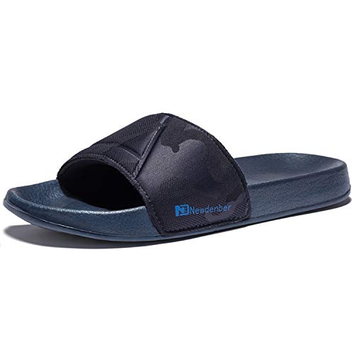 (NewDenBer NDB Men's Classical Comfort EVA Rubber Slide Sandles (8 D(M) US, Navy)