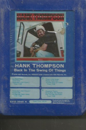 Hank Thompson Back in the Swing of Things Still Sealed 8 Track (Abc Swing)