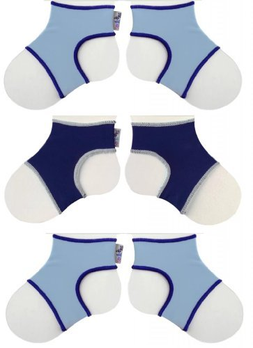 - Sock Ons Classic (6-12 Months), Baby Blue, Baby Blue & Navy, 3 Pack