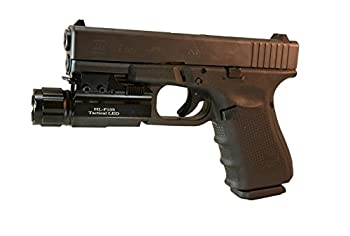 Aimkon Hilight P10s 500 Lumen Pistol Led Strobe Flashlight With Weaver Quick Release For Glock Series, Sig Sauer, Smith & Wesson, Springfield, Beretta, Ruger, & Heckler & Koch, Etc. 1