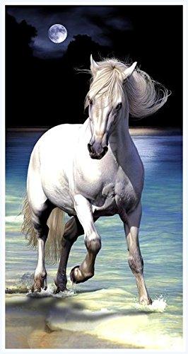 Toalla, playa, toalla de mano – Caballo – Caballos – diseño: Luna caballo