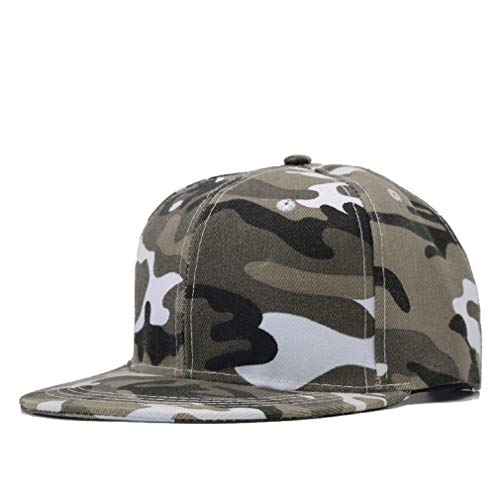 Nimdhfsa Snow Camo Baseball Cap Men Tactical Cap Camouflage Hat for Men Bone Dad Hat Trucker B Style - Ventilator Mesh Cap Mens