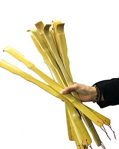 UPlama 12 PCS Natural Bamboo Back Scratcher Traditional Wooden Back Scratcher,Long Back Scratcher,Itching Relief and Body Massage for Men Women Children ()