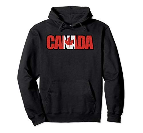 Souvenir Canada Hoodie Flag Vintage - maple leaf Hoody - ()