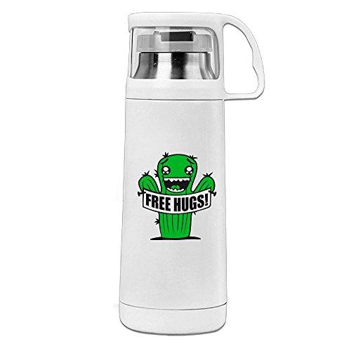 Handled Hug (Karen Garden Free Hugs Stainless Steel Vacuum Insulated Water Bottle Leak Proof Handled Mug White,12oz)