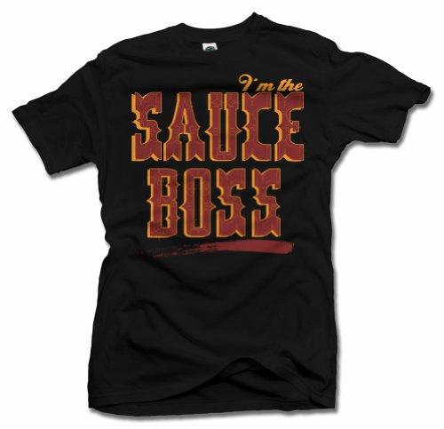 I'M THE SAUCE BOSS BBQ T-SHIRT XL Black Men's Tee (6.1oz)
