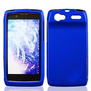 Blue Hard Case Snap On Rubberized Cover For Motorola Electrify 2 / XT881