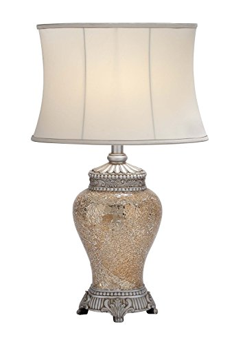 Deco 79 Polystone Mosaic Table Lamp, 30-Inch, Set of 2