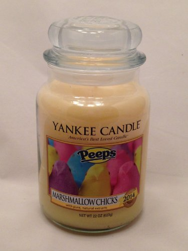 Yankee Candle Classic Large Jar, Marshmallow Chicks (Jar Ounce Holiday 22)