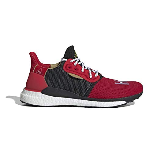 adidas Men's Pharrell x Solar Hu Glide ST 'Chinese New Year' Red EE8701 (Size: 9.5)