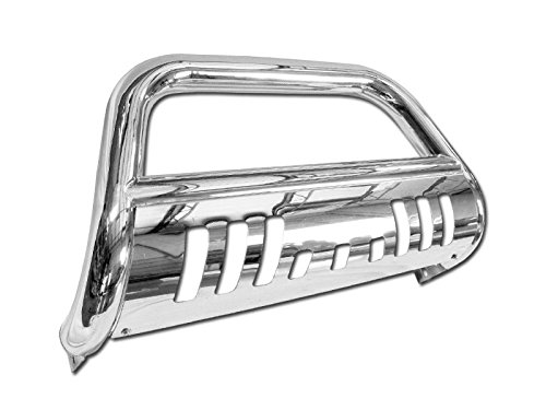 (Autobotusa Chrome Heavyduty Stainless Steel Bull Bar for Jeep Grand Cherokee 2005-2007 | Jeep Commander 2006-2010 All Models Brush Push Front Bumper Grill Grille Guard )