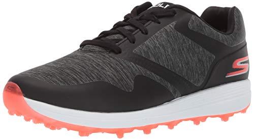 Skechers Women's Max Golf Shoe, Black/Hot Pink, 9.5 W US