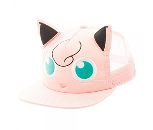Jigglypuff Costumes (Mozlly Multipack - Bioworld Pokemon Jigglypuff Big Face Pink Trucker Hat (Pack of 3))