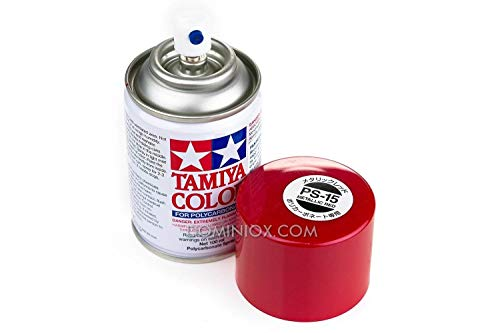 Tamiya Polycarbonate PS-15 Metal Red Spray - Tamiya Rc Nitro