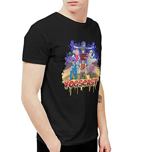 Douglas-A Mens Classic Yogscast T-Shirts Black (Yogscast Shirts)