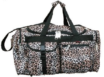 22-duffel-bag-with-4-pockets-stylish-desidns-weather-water-resistant-lepard-animal-skin-design