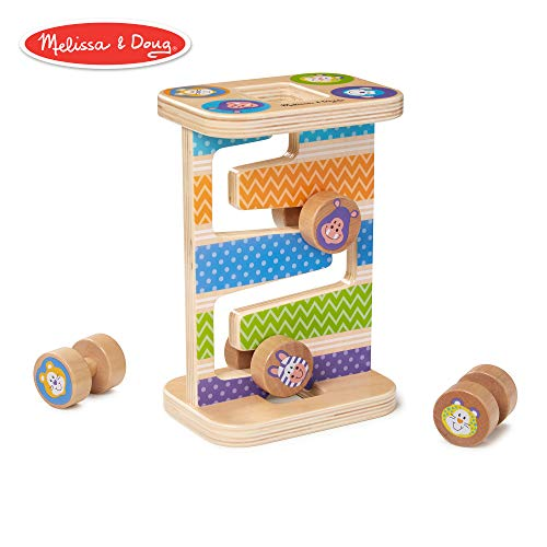 (Melissa & Doug Safari Zig-Zag Tower Early Development Toy)