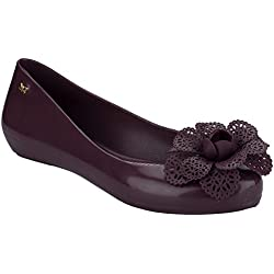 Zaxy Womens Berry Pop Garden Ballerina Flats-UK 3