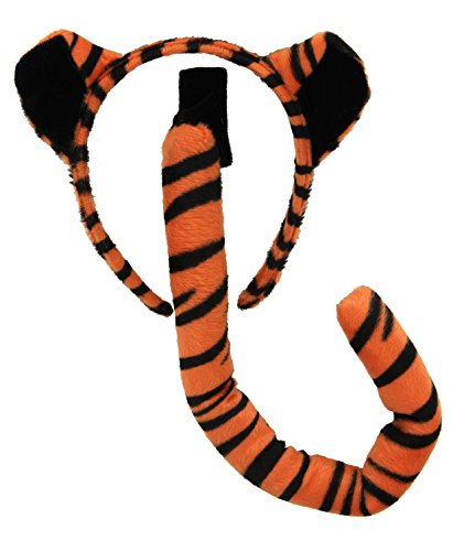 [elope Tiger Ears & Tail Set] (Cat Costume Ideas Adults)
