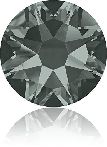 (Swarovski Professional 2088 SS30 Black Diamond Flat Back Crystal Rhinestone)