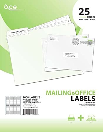 ace label mailing return address labels for laser and inkjet printer