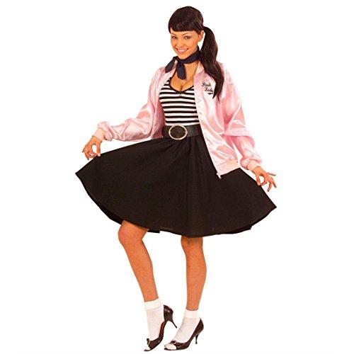 NET TOYS Jupe fifties rock n roll jupe chasuble noire années 50 60  petticoat jupe femme rockabilly jupon Grease accessoire déguisement soirée  à thème  ... 645307a1db74